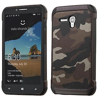 ASMYNA Astronoot Case for Onetouch Fierce XL - Camouflage Gray Backing/Black