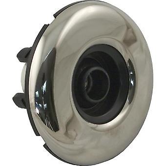 """Canale navigabile 224-3161 3.19"""" FD liscio in acciaio inox Jet interno - nero"""