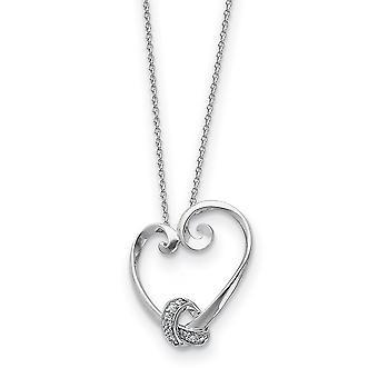 925 Sterling Silver polerad gåva Boxed Spring Ring Rhodium pläterad CZ Cubic Zirconia Simulerad Diamond Halsband 18 Tum