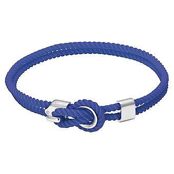 Rochet B3204012 pulsera - Marinero de acero y cordón de algodón azul de las mujeres