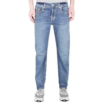 True Religion Geno Relaxed Slim Super T Dark Champion Blue Denim Jeans