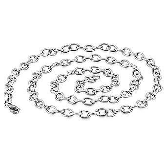 24 Zoll ovale Kabelglied Edelstahl Halskette Kette