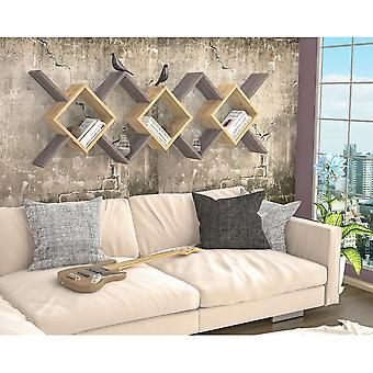 Riki Color Oak plank, Donkergrijs in Melaminic Chip 170x22x59 cm