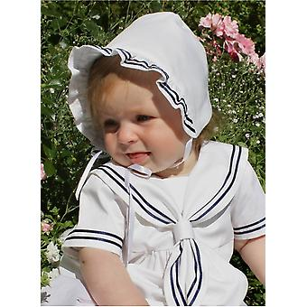 Christening Bonnet In Sailor Look From Grace Of Sweden