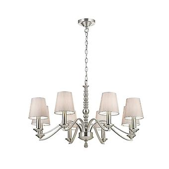 Astaire Pendentif Light, Nickel, 8 Ampoules