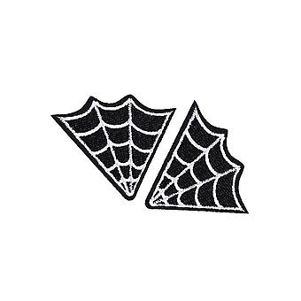 Attitude Clothing Spider Web Woven Patches