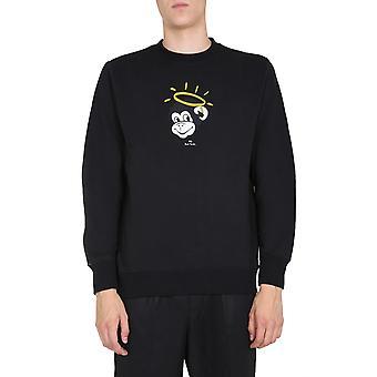 Ps Door Paul Smith M2r027rep219179 Men's Black Cotton Sweatshirt
