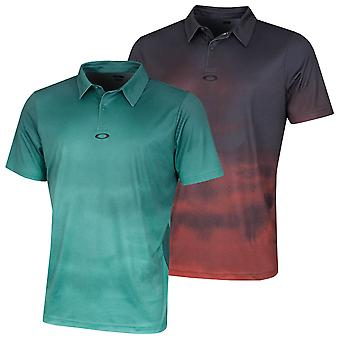 Oakley Mens 2020 Sunset Breathable Mesh Golf Graphic Polo Shirt