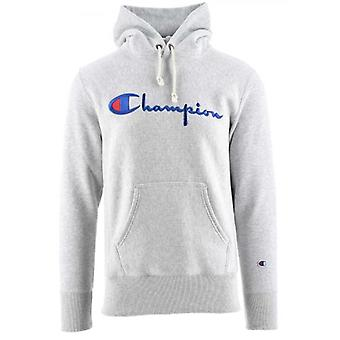Champion Reverse Weave Grey Hooded Sweatshirt
