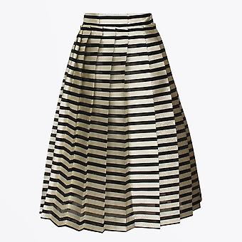 Baum Und Pferdgarten  - Seanna - Stripe Pleated Skirt - Black/White