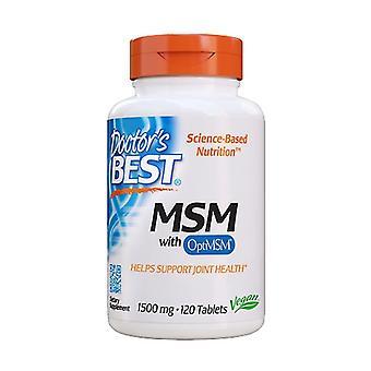 MSM met OptiMSM, 1500mg 120 tabletten
