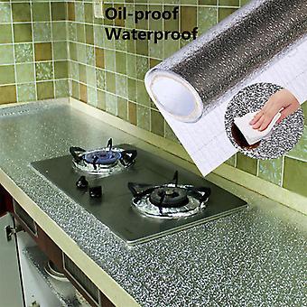 Papier peint d'autocollant imperméable à l'épreuve d'huile de cuisine d'aluminium imperméable