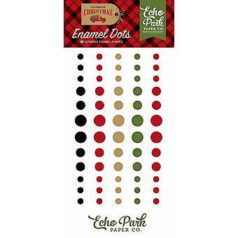 Echo Park feiern weihnachtliche Emaille Dots