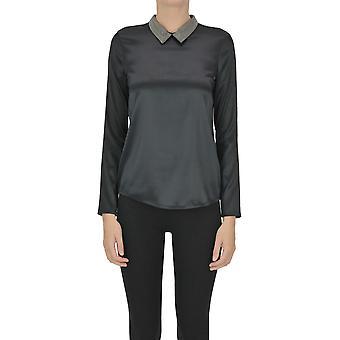 Fabiana Filippi Ezgl031078 Femme-apos;blouse en soie noire