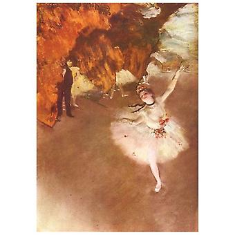 Print on canvas - Ballerina - La Star - Edgar Degas - Painting on Canvas, Wall Decoration