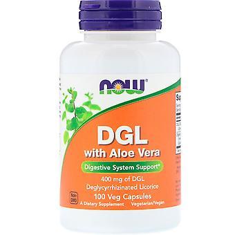 Ora Alimenti, DGL con Aloe Vera, 400 mg, 100 Veg Capsule
