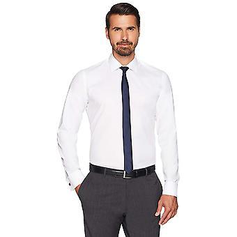 Abotoado men 's Slim Fit French Cuff Spread-Collar Non-Iron Dress Shirt, ...