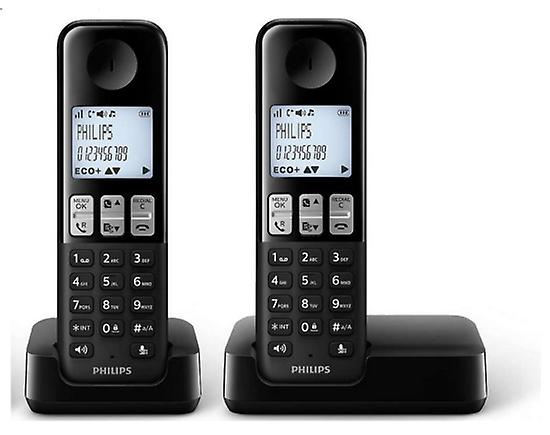 Philips Cordless Phone Hands-Free Duo D2302B 23