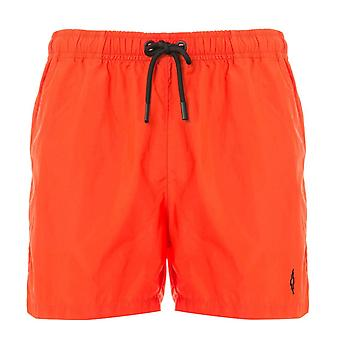 Red/Black Cross Logo Swim Shorts