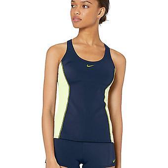 Nike Swim Women's Color Surge Powerback Tankini, Monsoon Blue, Size X-Large