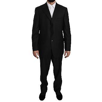 Ermenegildo Zegna Gray Striped  2 Piece 3 Button Wool Suit KOS1480-52
