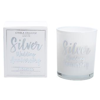 Gisela Graham Scented Candle - Silver Wedding Anniversary - Prosecco