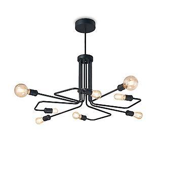 Ideal Lux TRIUMPH - Indoor Mutli Arm Deckenleuchte Leuchte 8 Lichter schwarz, E27