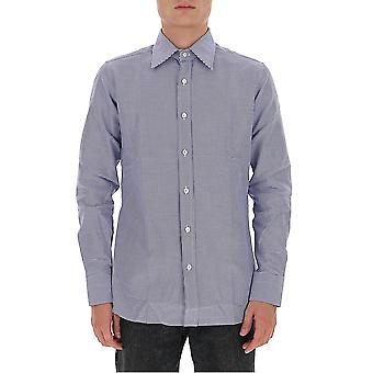 Tom Ford 8ft10294vabyg Men's Light Blue Cotton Shirt