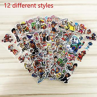 Paw Patrol Dog Toy Car Stickers 3d Children's Cartoon Tattoo Stickers Bubble Paste Thicken The Reward Stickers Kids Toys Gifts