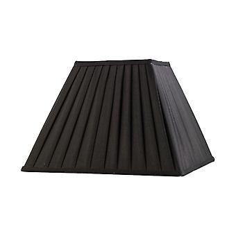 35 Cm Square Pleated Lampshade Black