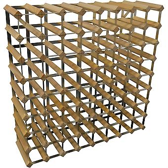 72 Bottle Wine Rack - Fully Assembled - Light Wood