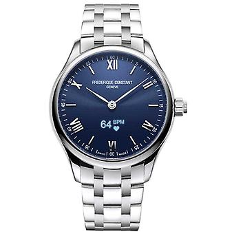 Frederique Constant Mens | Vitality | Smartwatch | Blue Dial | Stainless Steel FC-287N5B6B Watch