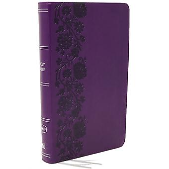 NKJV EndofVerse Reference Bible Personal Size Large Print Leathersoft Purple Red Letter Comfort Print by Nelson & Thomas