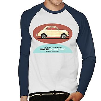 Morris Minor 1000 Its The Car Called Success British Motor Heritage Men's Baseball Long Sleeved T-Shirt