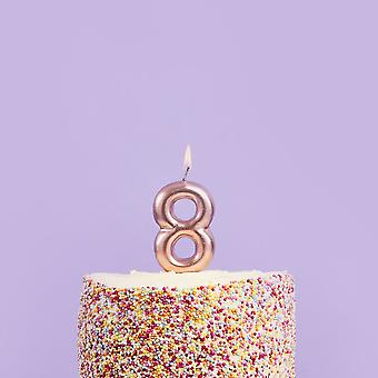 8th Birthday Party Candle   Rose Gold Number 8 Age Cake Topper 18th Decoration