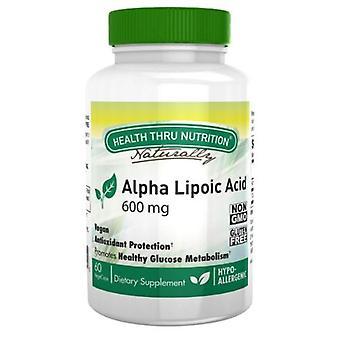 Health Thru Nutrition Alpha Lipoic, 600 mg 60 Vegi Caps