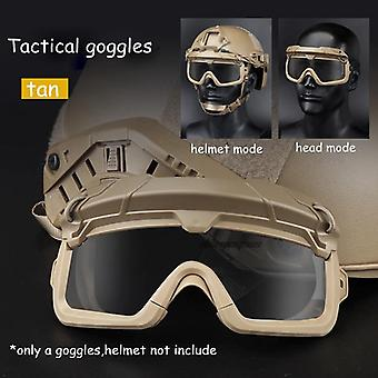 Tactical Paintball Goggles Windproof, Anti Fog Cs Wargame Protection Goggles