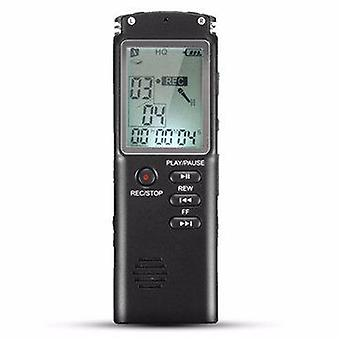 8GB Portable Rechargeable LCD Digital Audio Voice Recorder Dictaphone With MP3