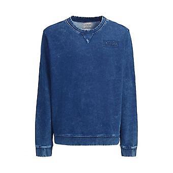 GUESS Guess Indigo Yard Sweatshirt Blue Denim