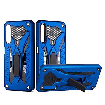For Huawei Honor 9X Shockproof TPU + PC Protective Case with Holder(Blue)