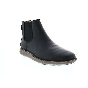 Clarks Un Larvik Up Herren schwarz Leder Slip auf Chelsea Stiefel