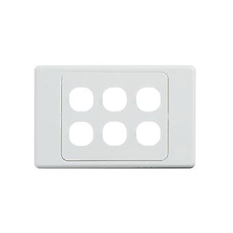 Ultima 6 Gang Switch Cover White