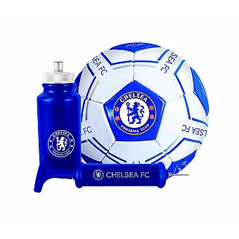 Chelsea FC Football Soccer Signature Ball Bottle Pump Gift Set 500ml