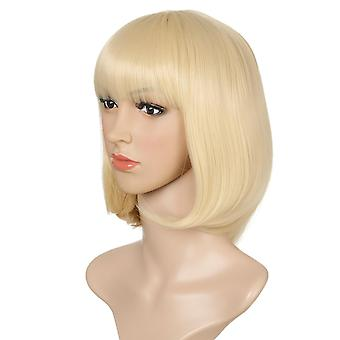 Women's Wig with Bangs Bob Haircut Women's Fashion Synthetic Wigs Wig