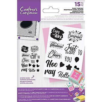 Crafter's Companion Disfruta de tus sellos claros de un día