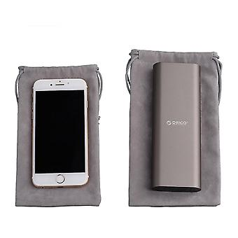 Orico Phone Storage Velvet Bag Storage For Usb Charger/usb Cable/power