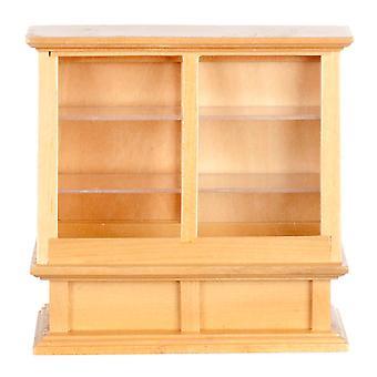 Dolls House Light Oak Display Cabinet Miniature Shop Furniture Store Fitting