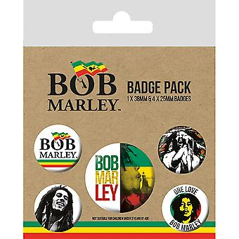 Bob Marley Badge Set (Pack of 5)