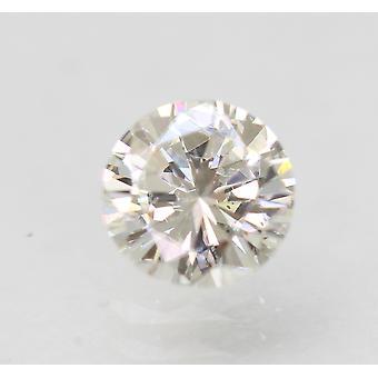 Sertifioitu 0,57 karat G VVS2 pyöreä loistava parannettu luonnollinen löysä timantti 5,37m