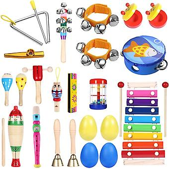 Percussion Set Non-toxic Musical Educational Tools Musical Instruments For  (as
